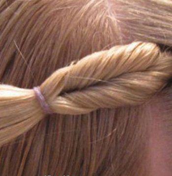 发型设计 儿童发型 >> 宝宝短发编发图解 宝宝扎小辫教程(4)  全部