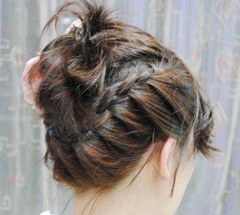 短发后梳编盘发发型-短发怎么盘头发 怎么盘短头发简单漂亮