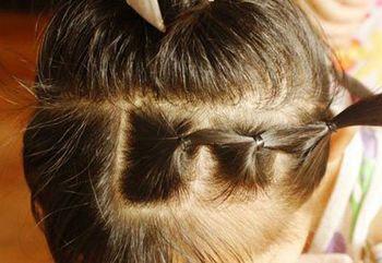 小女孩的头发怎么编好看 小孩子短头发编辫子(4)图片
