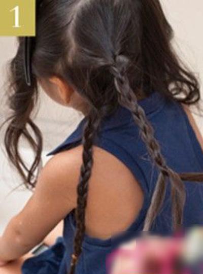 小女孩漂亮发型的编法 女孩编发过程图片