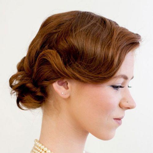水晶发饰盘头发简单好看的步骤