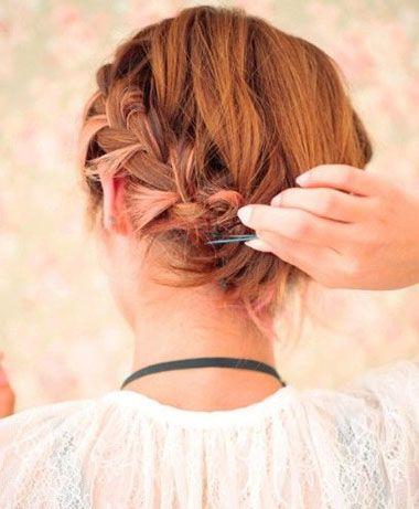 短发怎么盘成新娘发型