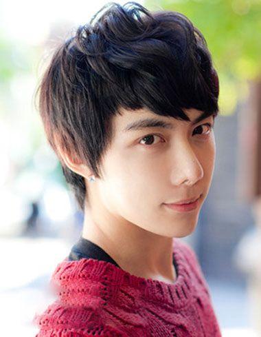 刘海短男学生个性发型 男生学生刘海发型图片图片