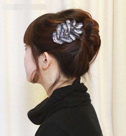 中年女性怎样盘发型 韩式中年女性盘发发型图片