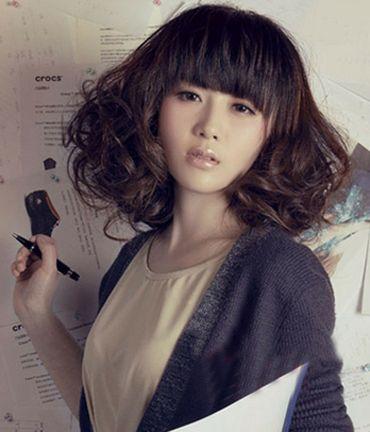 现在流行的小卷冷烫梨花烫图片 发型师姐