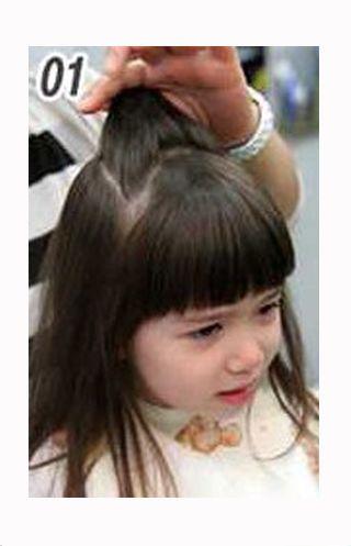 三岁女孩扎发发型图片