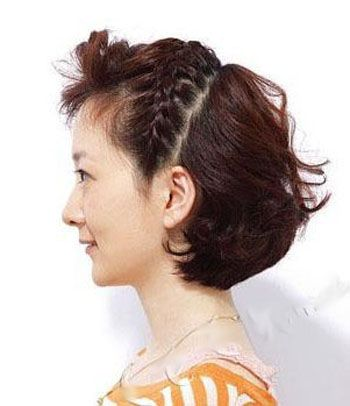 短头发如何编辫子 编短头发花样大全