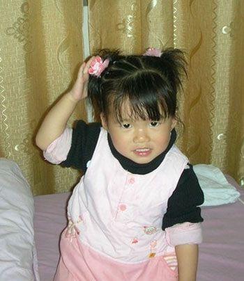 儿童编发发型扎法图解,最适合短发的小孩咯图片