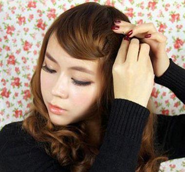额头大的女生怎么扎头发 大额头女生怎样扎头发(5)图片