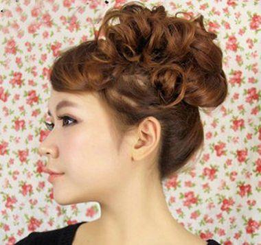 额头大的女生怎么扎头发 大额头女生怎样扎头发(13)图片