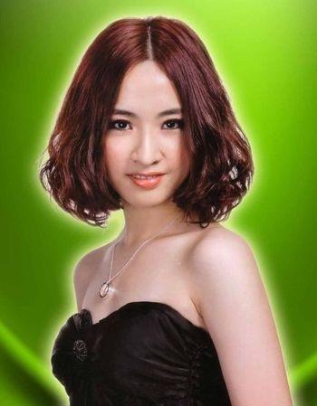 大卷梨花发型的图片 小卷梨花发型 4