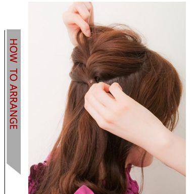 发型设计 盘发 >> 中短发编发发型盘法 中短卷发编发发型扎法(2)