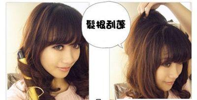 中年女士长发盘发发型图解 中年中长发发型盘头图片
