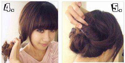 中年女士长发盘发发型图解 中年中长发发型盘头 发型师姐图片