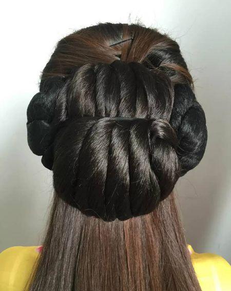 怎样盘着古代头发简单好看