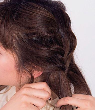 女生短发发型编法 中短发编制发型(2)图片