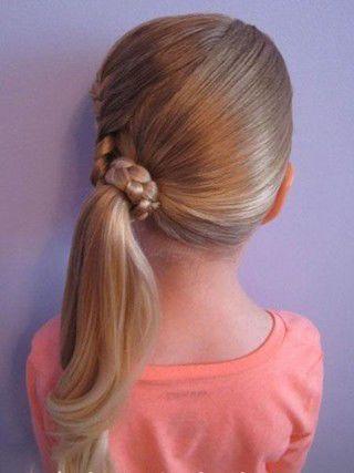 4岁小孩适合扎什么发型 儿童女孩发型扎法(11)图片