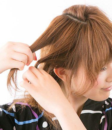 短发编辫子发型扎法盘发图解