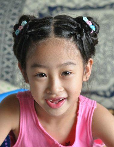 儿童超短发发型扎发 8岁儿童的发型扎法图片