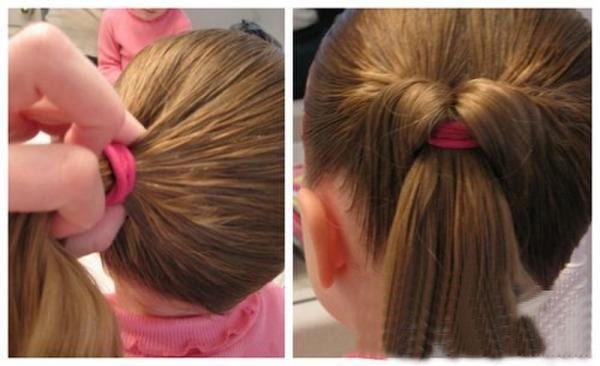 小孩怎么编头发简单好看 编小孩子头发的教程图片