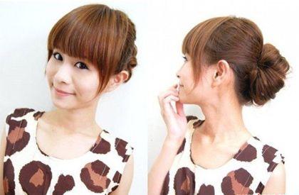 适合女生在专卖店上班盘的发型有哪些 职场女士新盘发图片