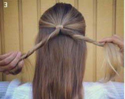 自己扎可爱简单发型 长发简单发型扎法图解(2)图片