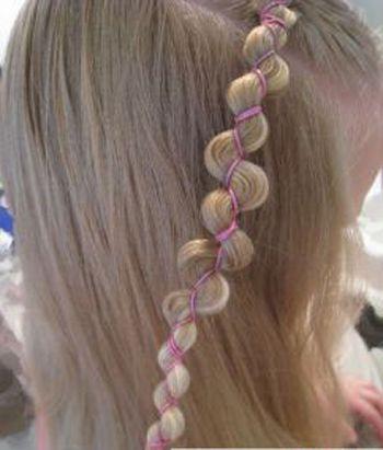 四岁女孩短发发型扎法 短发小孩扎发发型(4)
