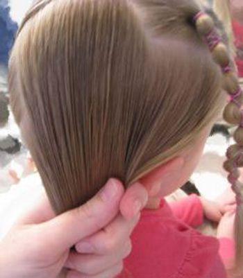 四岁女孩短发发型扎法 短发小孩扎发发型(5)图片