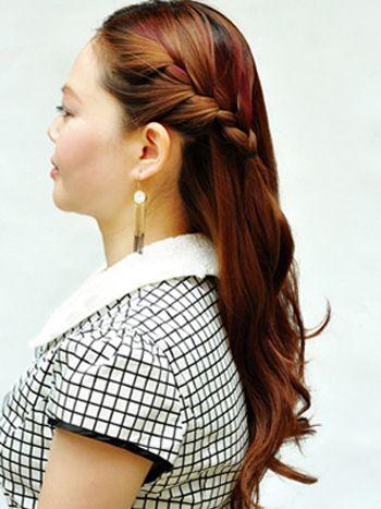 发型设计 中年发型 >> 中年人盘头发型步骤 中年妇女盘发型教程  201