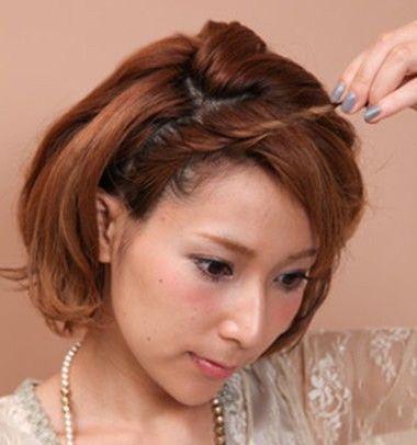短发的新娘头怎么盘 短发新娘盘发图解_发型师姐