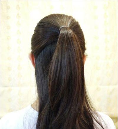 怎么盘头发高发髻 中年人高髻盘发图解图片