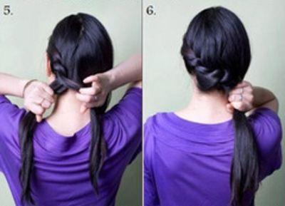 中学生扎什么发型图解 学生中发发型扎法(2)图片