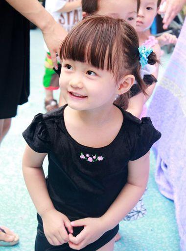 小女孩短发发型设计与脸型搭配
