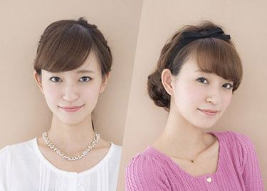 头发少额头大的女生适合扎什么发型 额头大怎样扎头发好看图片