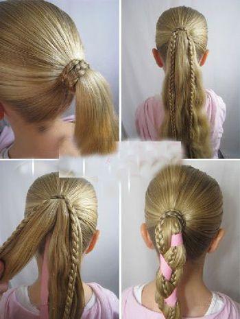 给小孩编头发的步骤及图片