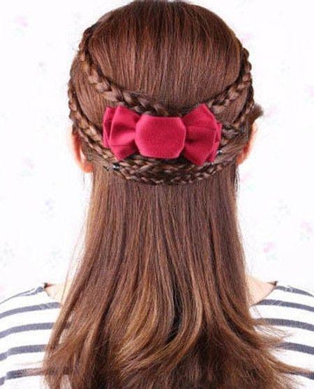 编发 >> 怎样编出简单又好看的发型图片