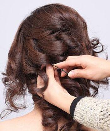 新娘妆的头发怎么盘 中长头发新娘盘发图片
