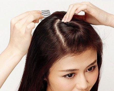 盘发发型中长扎法图解 可爱的盘发发型步骤(5)图片