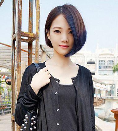 斜刘海沙宣头内扣 内扣刘海头发型图片图片