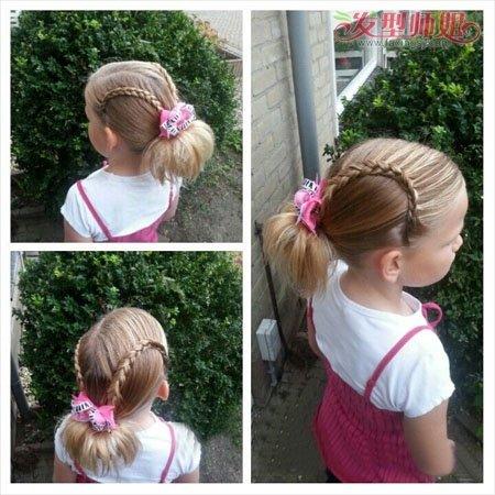 怎么样学给小孩编头发 小女孩中长头发的多种编发