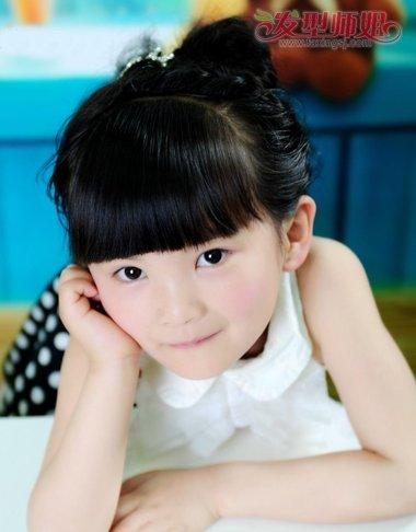 学习儿童盘发发型 儿童短发盘发发型扎法图解