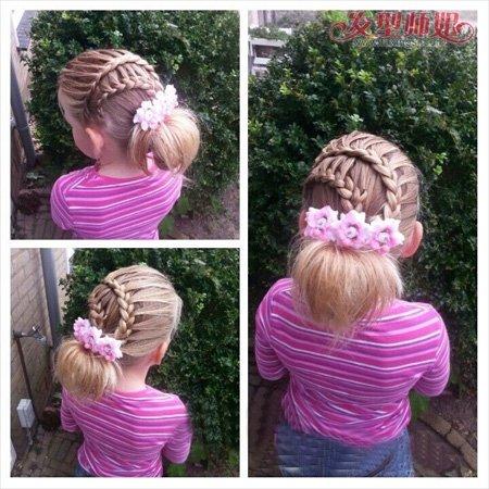 盘发头发的步骤及图片