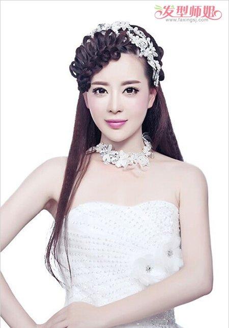 最简单的新娘盘发有刘海步骤
