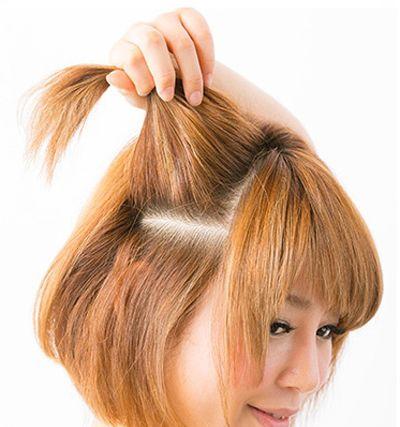 短发 编发的款式很多只是在一侧编织成发辫可以很好起到很好的减龄图片