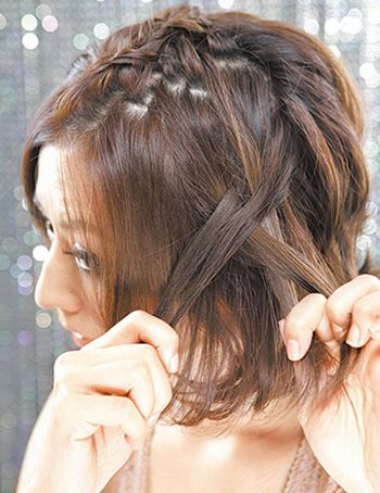 短发怎样自己编头发 简单的短头发的编法图解图片