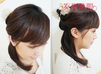 女孩简单扎头发发型 女孩子扎起来的美丽发型图片