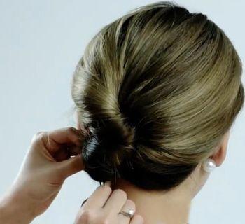 职业女性盘发发型扎法图片 职业女性发型的盘法(4)图片
