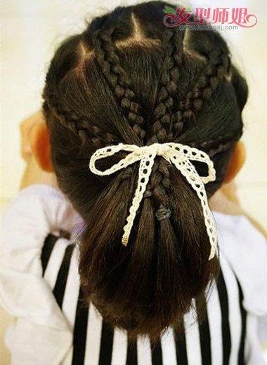 小女孩短发编发发型 教你编小孩发型