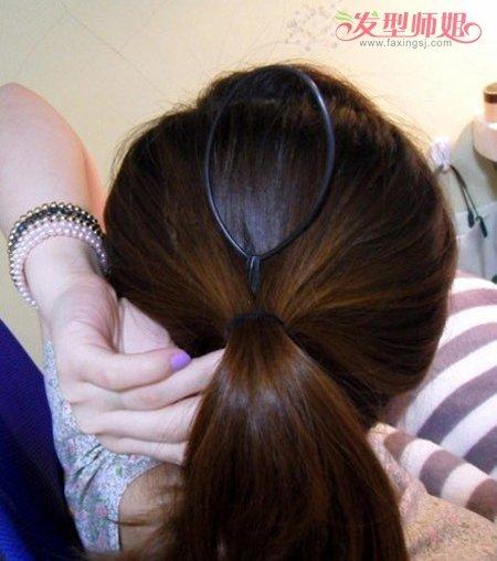 用盘发针做出的好看发型 中长直发盘发发型