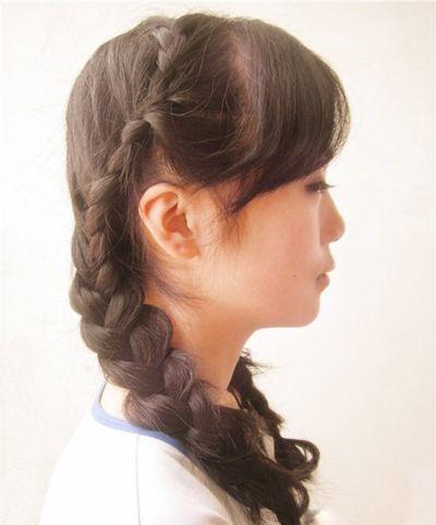 小学生扎头发发型 小学生清新头发扎法(5)图片